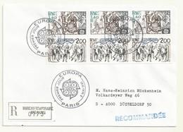 THEME EUROPA  CACHET PREMIER JOUR 02/05/1981 SUR LETTRE RECOMMANDEE - Cachets Commémoratifs