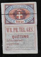 AUTRICHE - 1870 - COMPAGNIE PRIVEE De WIEN - PLI D'ANGLE - 1850-1918 Empire