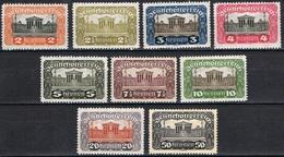 Timbres Neufs** D'autriche, N°214-222 Yt, Parlement De Vienne, 1919 - 1918-1945 1ère République