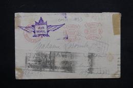 CANADA - Affranchissement Mécanique De Vancouver En 1933 Sur Enveloppe Pour La France - L 23688 - 1911-1935 Règne De George V