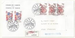 THEME EUROPE  CONSEIL DE L'EUROPE   CACHET PREMIER JOUR 26/04/1980 SUR LETTRE RECOMMANDEE - Cachets Commémoratifs