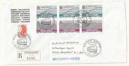 THEME EUROPE  CONSEIL DE L'EUROPE   CACHET PREMIER JOUR 30/04/1988 SUR LETTRE RECOMMANDEE - Cachets Commémoratifs