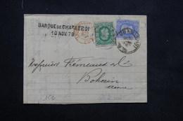 BELGIQUE - Lettre De Charleroi Pour La France En 1879 , Voir Cachets Recto Et Verso - L 23693 - 1869-1883 Leopold II