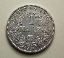 Germany 1 Mark 1906 G Silver - [ 2] 1871-1918: Deutsches Kaiserreich