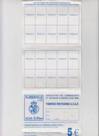 FLORENVILLE - ASSOCIATION DES COMMERCANTS ET ARTISANS FLORENVILLOIS ASBLCARNET TIMBRES RISTOURNES - Autres Collections