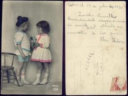 FLOWERS FLEURS - ENFANTS - Postcard 1924 Amag - Escenas & Paisajes