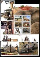 MALAWI, 2018,ELEPHANTS, TRANSLOCATION,6 M/S+S/S, MNH**, NEW!! - Elefanti
