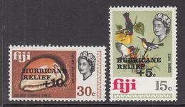 1972 Fiji Hurricane Relief Semi-postals  Birds Complete Set Of 2 MNH - Fiji (1970-...)