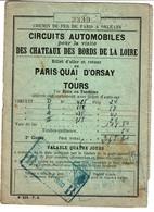 Chemin De Fer De Paris à Orléans / 1930 - Billet Aller/Retour Paris Quai D'Orsay à Tours -3 Scans - Andere