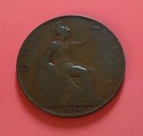 GRAN BRETAGNA  - ENGLAND  1906 Moneta 1 PENNY Edoardo VII - 1971-… : Monete Decimali