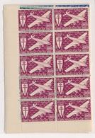 CP-12: PA, Série De Londres: MADAGASCAR:   PA °55/61** En Blocs De 10 - France (ex-colonies & Protectorats)