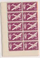 CP-13: PA, Série De Londres: Nelle CALEDONIE:   PA N°46/52** En Blocs De 10 - France (ex-colonies & Protectorats)