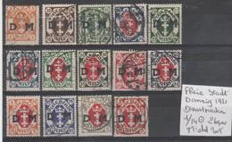TIMBRES D ALLEMAGNE ( DANZIG) (DIENSTMARKEN) OBLITEREES  1921 Nr 1/14  COTE 260   € - Danzig