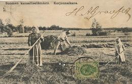 Suomen Kansalliselamasta Korjuunaikana P. Used From Kuopio To Cuba - Finlande