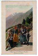 Conches - Paysannes De La Vallée De Conches - Route De La Furka - Edit. Jullien Frères N° 9777 - 2 Scans - VS Valais