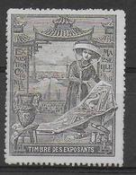 1906 - VIGNETTE EXPOSITION COLONIALE De MARSEILLE (*) - Commemorative Labels