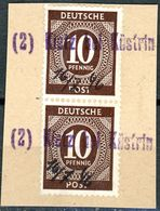 """""""Detzn Bei Küstrin"""" Notstempel Briefstück Mit Paar Nr. 918 Gemeinschaftsausgaben - Gemeinschaftsausgaben"""