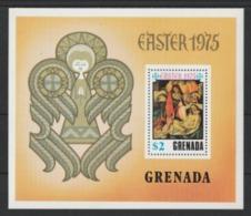 1975 Grenada Botticelli Pasqua Easter Paques Quadri Paintings MNH**Y142 - Grenada (1974-...)