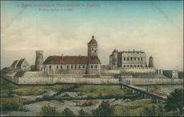 Postcard Lowitsch Łowicz Zamek Arcybiskupow Gnieznienskich 1913 - Polonia