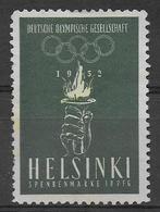 1952 - VIGNETTE De L'EQUIPE OLYMPIQUE ALLEMANDE - HELSINKI - Sommer 1952: Helsinki