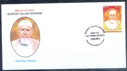 K251- FDCs Of Pakistan Men Of Letters Series. Qudrat Ullah Shahab. Urdu  Writer. Civil  Servant. - Pakistan