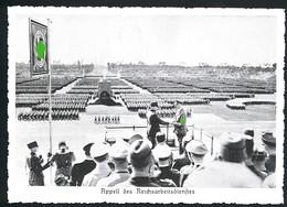 AK/CP RAD  Reichsparteitag Nürnberg Hitler  Propaganda  Nazi  Ungel/uncirc. 1933-38   Erhaltung/Cond. 2  Nr. 00584 - Guerre 1939-45