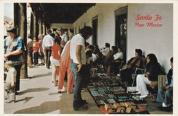 INDIENS SUR LE MARCHE DE SANTA FE NOUVEAU MEXIQUE (dil85) - Native Americans