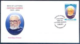 K254- FDCs Of Pakistan Men Of Letters Series. Ishfaq Ahmed. Writer. Playwright. - Pakistan