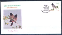 K255- FDCs Of Pakistan Red Vented Bulbul. Birds. - Pakistan
