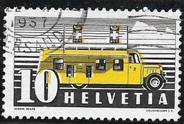 1937 10c Mobile Postoffice, Used - Svizzera