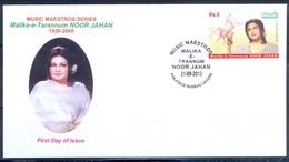 K260- FDCs Of Pakistan Music Maestros Malika-e-Tarannum Noor Jahan. - Pakistan