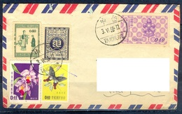 K263- Old & Rare Postal Used Cover. Post From Taiwan To Pakistan. Butterfly. Flower. - Taiwan (Formosa)