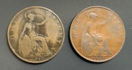 GRAN BRETAGNA  - ENGLAND  1917  Moneta 1 PENNY Giorgio V - 1971-… : Monete Decimali