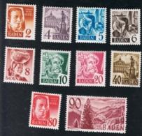 1948 / 49 Baden Mi DE-FB 28 - 37 SN DE 5N28 - 40 Yt DE-FB 28 37 Sg DE-FB 28 - 37 Postfrisch Xx - Französische Zone
