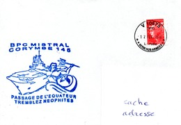 BPC MISTRAL Mission CORYMBE 145 + Pasage De L'Equateur Obl. V10575 12/02/19 - Marcophilie (Lettres)