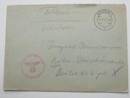1940 , Küstrin , Feldpostbeleg Mit Truppensiegel - Allemagne