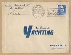 Marianne De Gandon 886 Sur Enveloppe TAD Poste Aux Armées 27/2/54 Vers Paimboeuf Les Cahiers De Yachting - Postmark Collection (Covers)