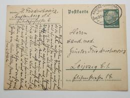 1939 , KAMENZ - LÜBBENAU, Klarer Bahnpoststempel Auf   Karte - Allemagne