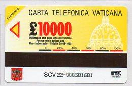 URMET 10000L - UNUSED - POPE IN CROATIA - Vatican