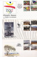 Namibia Barcelona Olympics Zebras Mountains Day Of Issue Cancel  1991 1992 A04s - Namibia (1990- ...)