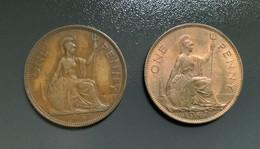 GRAN BRETAGNA  - ENGLAND  1920  Moneta 1 PENNY Giorgio V - 1 Penny & 1 New Penny