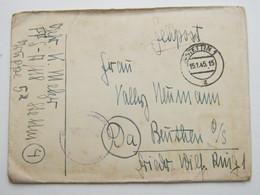 1945 , (4) Stettin  , Klarer PLZ  Stempel Auf Feldpostbrief Mit Truppensiegel Und Inhalt - Allemagne