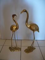 Vintage Flamingo Paar Aus Messing  (748) - Skulpturen