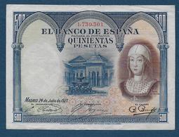 Espagne - Billet  500 Pesetas  1927 - [ 1] …-1931 : Premiers Billets (Banco De España)