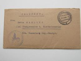 1944 , (19) Altengrabow  , Klarer PLZ  Stempel Auf Feldpostbrief Mit Truppensiegel Und Inhalt - Allemagne