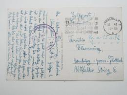 1942, STRALSUND  , Klarer Stempel Auf Feldpostkarte Mit Truppensiegel - Allemagne