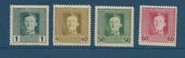 Timbres Neufs* D'autriche-hongrie, N°49, 60, 61, 62 Yt, Charles 1er, Traces De Charnières - 1850-1918 Empire