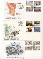 Namibia Weather Farming Ranching Conservatoir Paint Music Ballet Acting Day Of Issue Cancel  1990 1992 A04s - Namibia (1990- ...)