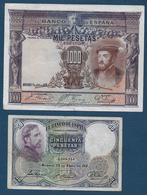 Espagne - Lot De 6 Billets - [ 1] …-1931 : Premiers Billets (Banco De España)