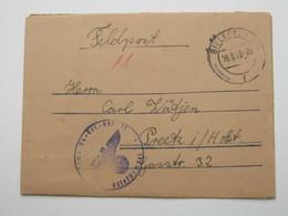 1943 , Bielefeld , Klarer Stempel Auf Feldpostbrief Mit Truppensiegel + Inhalt - Allemagne